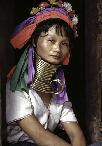 Long Neck Red Karen Woman, Mynamar (Burma)