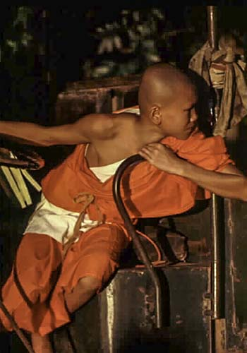 Monk in Training, Monastery, Myanmar (Burma)