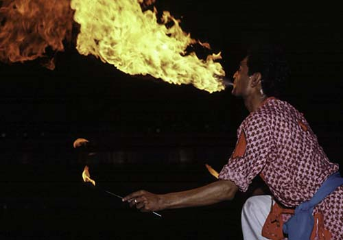 Fire Breathing Man